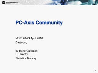 PC-Axis Community
