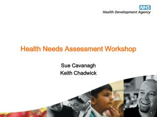 Health Needs Assessment Workshop