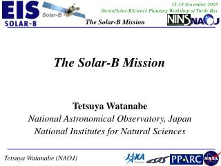 The Solar-B Mission