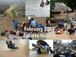 February 2007 Jakarta flooded