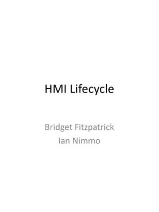 HMI Lifecycle