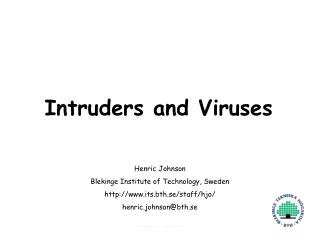 Intruders and Viruses