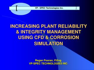 VP - SPEC Technologies Inc.