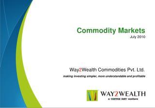 Way 2 Wealth Commodities Pvt. Ltd.
