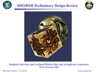 SDO/HMI Preliminary Design Review