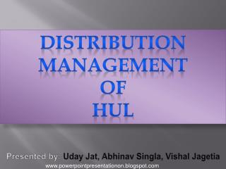 Presented by:  Uday Jat ,  Abhinav Singla ,  Vishal Jagetia