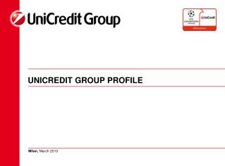 UNICREDIT GROUP PROFILE