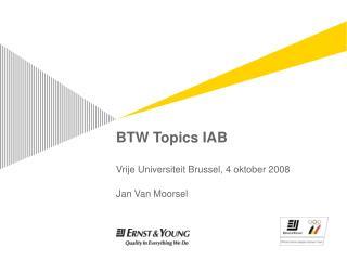 BTW Topics IAB