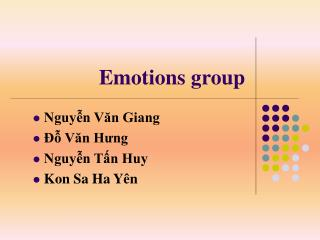Emotions group