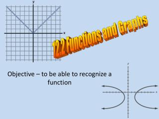 Objective � to be able to recognize a function