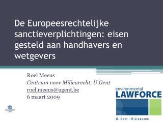 De Europeesrechtelijke sanctieverplichtingen: eisen gesteld aan handhavers en wetgevers