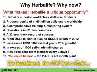 Why Herbalife? Why now?
