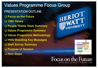 Values Programme Focus Group  PRESENTATION OUTLINE