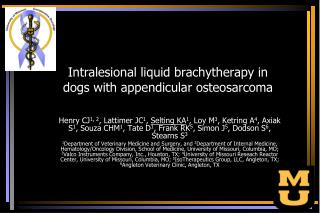 Intralesional liquid brachytherapy in dogs with appendicular osteosarcoma