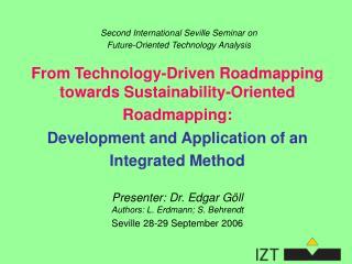 Second International Seville Seminar on  Future-Oriented Technology Analysis