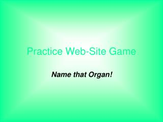 Practice Web-Site Game