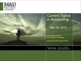 Current Topics in Accounting     May 28, 2010