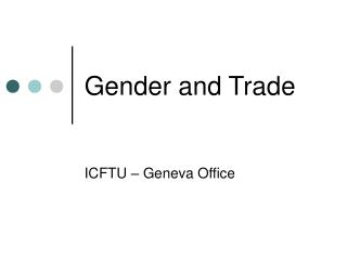 Gender and Trade