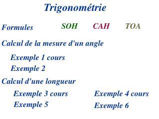 Trigonom�trie