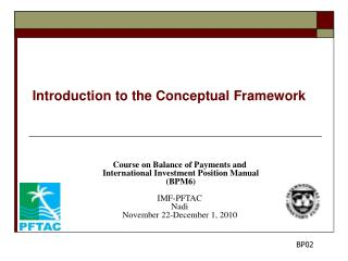 Introduction to the Conceptual Framework