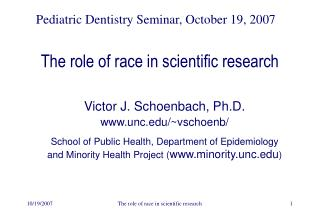The role of race in scientific research