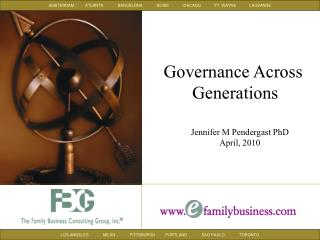 Governance Across  Generations