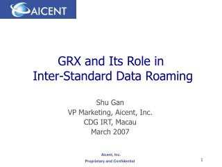GRX and Its Role in  Inter-Standard Data Roaming