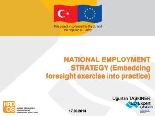 NATIONAL EMPLOYMENT STRATEGY ( Embedding foresight exercise into practice )
