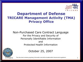 Non-Purchased Care Contract Language For the Privacy and Security of