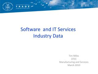 Software  and IT Services Industry Data