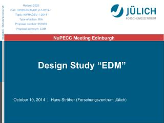 "Design Study ""EDM"""