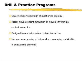 Drill & Practice Programs