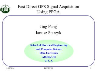 Fast Direct GPS Signal Acquisition  Using FPGA
