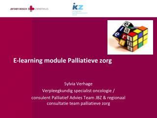 E-learning module Palliatieve zorg