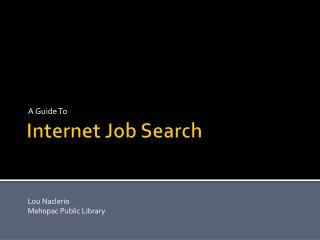 Internet Job Search