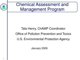 Chemical Assessment and Management Program