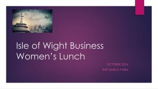 Isle of Wight Business Women's Lunch