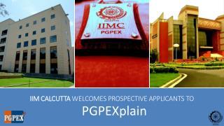 IIM Calcutta  welcomes prospective applicants to