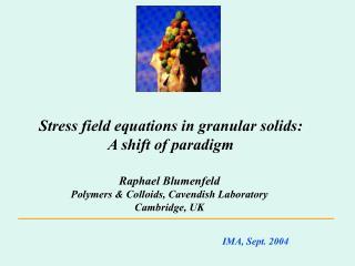 Stress field equations in granular solids :  A shift of paradigm