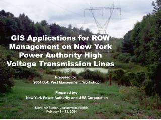 GIS Applications for ROW Management on New York Power Authority High Voltage Transmission Lines