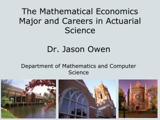 The Mathematical Economics Major and Careers in Actuarial Science