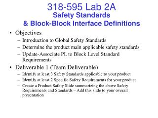 Safety Standards & Block-Block Interface Definitions