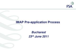 IMAP Pre-application Process