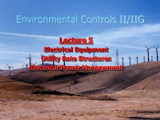 Environmental Controls II/IIG