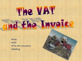 Sale VAT The VAT calculation Making