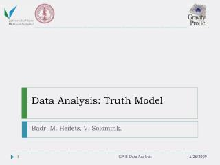 Data Analysis: Truth Model