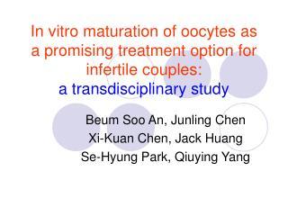 Beum Soo An, Junling Chen Xi-Kuan Chen, Jack Huang Se-Hyung Park, Qiuying Yang