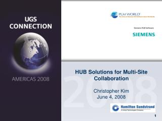 HUB Solutions for Multi-Site Collaboration Christopher Kim June 4, 2008