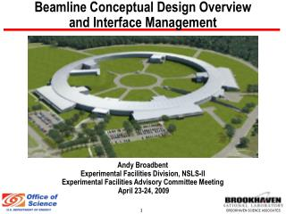 Beamline Conceptual Design Overview  and Interface Management