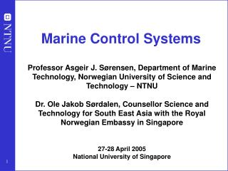Marine Control Systems